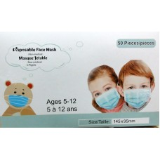 Baby - Face Mask Disposable - Children Masks -  Non-Medical - 3 Ply - Ages 5-12 / 1 x 50 Masks