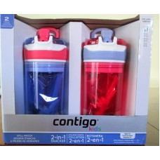 "Contigo - 2-in 1 Snacker Bottles For Kids - Kids 2 Pack - Kids / 2  x 14 oz /""""See Pictures For More Details"""""