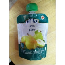 Baby Food - Pear Strained Baby Food - For  Beginner Babies -  Squeeze Top Lid - HeinzBrand  / 1 x 128 ml Squeeze Container