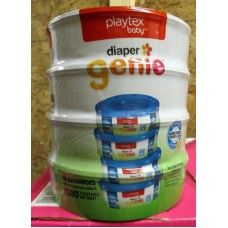 Diapers - Playtex Brand - Diaper Genie - 1 x 4 Genie Recharges / $7.49 .Per Refill / Each Refill Holds Up To 1080 Diapers