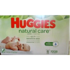 Wipes - Baby Wipes -  Huggies Brand - Natural Care Wipes - Fragrance Free  - 6 Refill Packs/ 1 x 1008 Wipes
