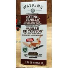 Baking - Vanilla Extract For Baking  - Pure Vanilla Extract - NON  GMO - Watkins Brand  / 1 x 59 ml / 2 Ounces