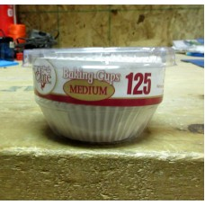 Baking - Baking Cups - Paper Baking Cups /  Medium Size / 1 x 125 Cups