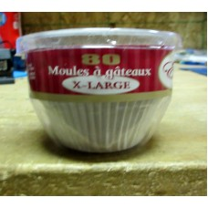 Baking - Baking Cups - Paper Baking Cups - X -Large Baking Cups / 1 x 80 Cups