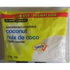 Baking - Coconut - Sweetened Shredded - No Name Brand /  1 x 1 Kg