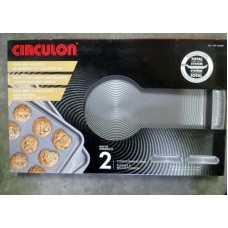 "Baking - Cookie &  Baking  Pans - Circulon Product - Premium  Non -Stick Coating Pans / 2 Pans / Size Is 11"" x 17""  / """"See Pictures For More Details"""""