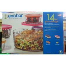 "Containers - Glass Food  Storage Containers With Lids - Variety Pack - Anchor Hocking Brand /  14 Piece Set Including Lids""See Pictures For More Details"""""