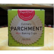 Baking - Baking Cups - Mini Baking Cups -  Parchment Paper -  PaperChef Brand / 1 x 90 Cups