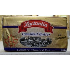Butter - Lactantia Brand - Unsalted - All Natural / 1 x 454 Grams
