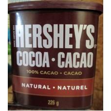 Baking - Cocoa - 100% Cocoa Powder  - All- Natural - Hersheys Brand - 1 x 226 Gram