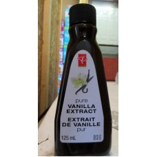 Baking - Vanilla Extract Pure - Great Value Brand / 1 x 125 ml Bottle