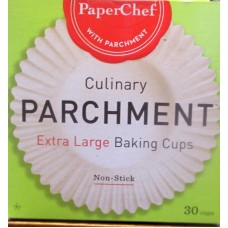 Baking - Baking Cups - Parchment Paper -  PaperChef Brand -Extra Large Size / 1 x 30 Cups