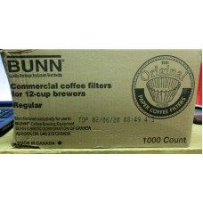 Coffee - Coffee Filters - Bunn Brand - 12 Cup White Basket Coffee Filters - Fluted Cup - Commercial Or Institutional Use / 1 x 1000 Filters