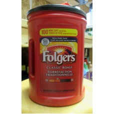 Coffee - Ground Coffee - Folgers Brand - Classic Roast - MEGA SIZE / 1 x 1.36 Kg / 3 lbs