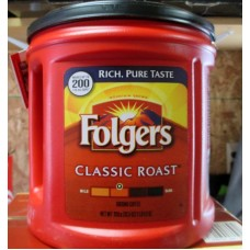 Coffee - Ground Coffee - Folgers Brand - Classic Roast - / 1 x 920 Grams / 2 lbs