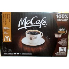"""Coffee - Keurig Cups - McCafe Brand Box - Medium Dark Roast - Fine Ground - 100% Compostable Pods /   1 x 72 Cups"""""""" See Pictures For More Details"""