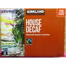 Coffee - Keurig Cups - Kirkland Brand - Decaf Coffee - Medium Roast Roast Coffee / 1 x 110 K-Cup Packs