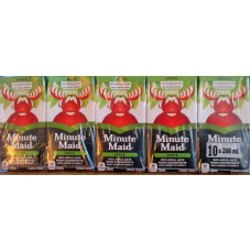 Juice - Apple Juice - Minute Maid Brand  - No Sugar Added -No Preservatives -  100% Apple Juice From Concentrate /  40 x 200 ml Boxes