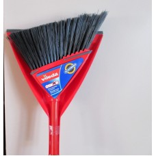 Cleaner - Broom With Dust Pan - Angle Broom - Vileda Brand - 100% Recycled PETP /1 x 1 Broom