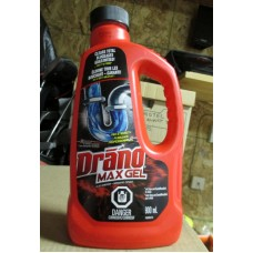 Cleaner - Clog Remover - Drano Brand  - Max Gel  / 1 x 900 ml