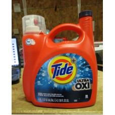 Detergent - Liquid Laundry - Tide Brand - Turbo Clean -  HE Product -  Ultra OXI - / 1 x 4.43 Liter / 89 Loads
