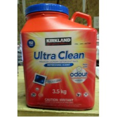 Detergent - Laundry Pods - Kirkland Brand -  Ultra Clean Premium Pacs - HE - Safe For All Washers - Refreshing Scent / 1 x 152 Pacs / 3.52 Kg