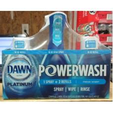 Soap - Dishwashing Liquid - Dawn Ultra Powerwash - Platinum - 1 Starter Kit & 2 Refills  = 1.42 Liter