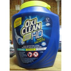 Detergent - Laundry Pods - Oxi Clean Brand - High Definition  Clean Packs -  Fresh Scent - HE Product - 1 x 67 Pods