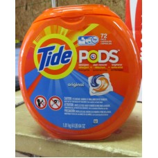 Detergent - Laundry Pods - Tide Brand - HE Product - Original Scent / 1 x 72 Pacs Capsules