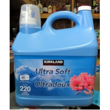 Detergent - Fabric Softner - Liquid Laundry - HE Product - Premium Fabric Softener  / Refreshing Scent  - Kirkland Brand 1 x 5.5 Liter / 220 Loads