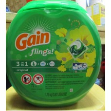 Detergent - Laundry Pods - Gain Flings - 3 In I With Detergent & Oxi Boost & Febreze - HE Product - Original - 1 x 72 Pods - 1.76 Kg