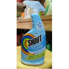 Detergent - Laundry Stain Remover - Shout Brand - Free Of Dye & Fragrance Free - 99% Natural / 1 x 650 ml Trigger Spray