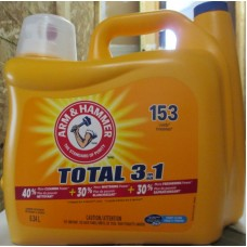 Detergent - Liquid Laundry - Arm & Hammer Brand  - HE Product - For All Machines - Clean Fresh Scent / 1 x 6.34 Liter / 153 Loads