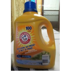 Detergent - Liquid Laundry - Arm & Hammer Brand  - Boosted With Baking Soda -  HE Product - For All Machines - Clean Fresh Scent / 1 x 4.43 Liter / 100 Loads
