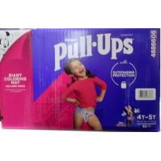 Diapers - Huggies - Pull Ups Training Pants  - Girls - 4T-5T  / 17- 23 Kg / 38- 50 lbs 1 x 82 Training Pants &Toddler Bonus Giant Coloring Mat