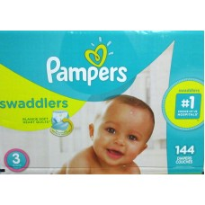 Diapers - Pampers - Step  3 - Swaddlers -  7 -13 Kg / 16 -28 lbs  / 1 x 144 Diapers