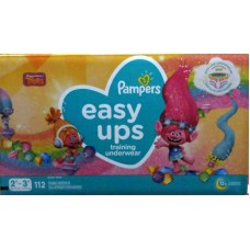 Diapers - Pampers - Easy Ups - Training Pants - Girls - 2T-3T  / 7-15 Kg /16-34 lbs / 1 x 112 Diapers
