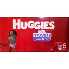 Diapers - Huggies - Step  6 - Huggies Little Movers / Over 16 Kg /  Over 35 lbs  / 1 x 92 Diapers