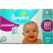 Diapers - Cruisers - Pampers - Size  # 3 - 7 - 13 Kg / 16 - 28 lbs / 1 x 144 Diapers