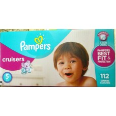 Diapers - Cruisers - Pampers - Size # 5 - 12 Kg And Up / 27 lbs And Up / 1 x 112 Diapers