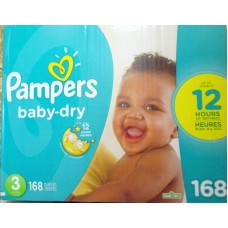 Diapers - Pampers - Step 3 - Pampers Baby Dry / 7 Kg -13 Kg / 16 - 28 Lbs / 1 x 168 Diapers