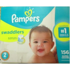 Diapers - Pampers - Step 2 - Swaddlers  5-8 Kg / 12-18 lbs  / 1 x 156 Diapers