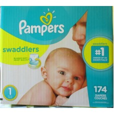 Diapers - Pampers - Step 1 - Swaddlers -  4 -6 Kg / 8 -14 lbs /  1 x 174 Diapers