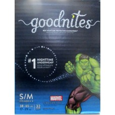 Diapers - Goodnites - Nighttime Underwear - Size S- M - Fit Sizes 4 -8 - 38 -65 lbs-17 -29 Kg / 1 x 32 Diapers