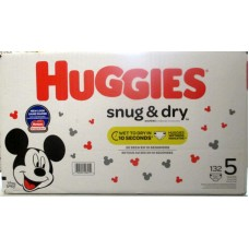 Diapers - Huggies Step 5 -  Snug & Dry ( Over 12 kg / 27 lbs ) 1 x 132 Diapers