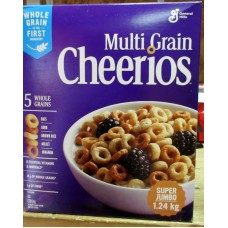Cereal - General Mills Brand - Multi-Grain Cheerios - 5 Whole Grains - Super Jumbo Box / 1 x 1.24 Kg / 2 Boxes Of