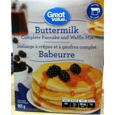 Pancake - Buttermilk - Complete Pancake & Waffle Mix - Just Add Water - Great Value Brand /  1 x 905 Grams