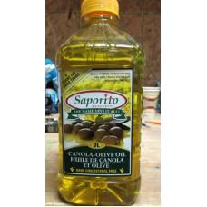 Oil - Canola Olive  Oil - Saporito Brand  - Cholesterol Free / 1 x 2 Liter