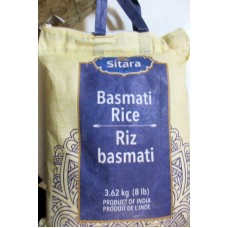 Rice - Basmati -  Sitara Brand - Product Of India / 1 x 3.62 Kg / 8 lbs