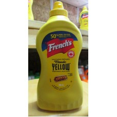 Mustard - French's Brand - Yellow Mustard - 1 x 830 ml
